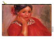 Gabrielle In A Red Blouse 1896 Carry-all Pouch