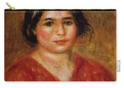 Gabrielle In A Red Blouse 1913 Carry-all Pouch