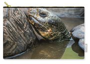 Galapagos Giant Tortoise In Pond Amongst Others Carry-all Pouch