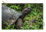 Galapagos Giant Tortoise In Profile In Woods Carry-all Pouch