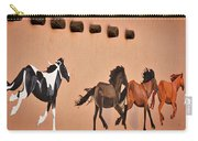 Galloping Horses Mural - Taos Carry-all Pouch