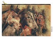 Galloping Wild Mustang Horses Carry-all Pouch