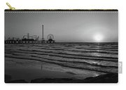 Galveston Sunrise Black And White Carry-all Pouch
