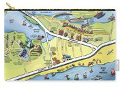 Galveston Texas Cartoon Map Carry-all Pouch