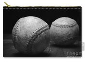 Game Used Baseballs In Black And White Carry-all Pouch