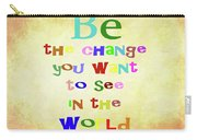 Gandhi Quote Carry-all Pouch