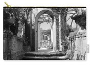 Garden Arches Of Vizcaya - Black And White Carry-all Pouch