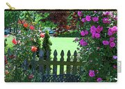 Garden Bench And Trellis Carry-all Pouch