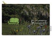 Garden Bench Green Carry-all Pouch