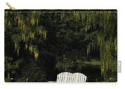 Garden Bench White Carry-all Pouch