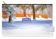 Garden  Bench With Snow Carry-all Pouch