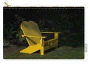 Garden Bench Yellow Carry-all Pouch