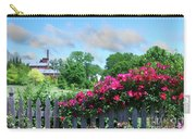 Garden Fence And Roses Carry-all Pouch