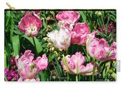Garden Of Pink Parrot Tulips Carry-all Pouch