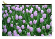 Garden Of Pink Tulips Carry-all Pouch