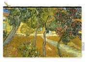 Garden Of Saint Paul's Hospital Carry-all Pouch by Vincent van Gogh