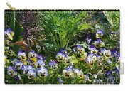 Garden Pansies Carry-all Pouch