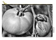Garden Tomatoes In Black And White Carry-all Pouch