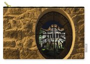 Illuminated Night View - Beautiful Revival House Through A Fence Window Carry-all Pouch