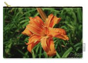 Garden With A Blooming Double Daylily Flowering Carry-all Pouch