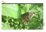 Garden With A Blue Morpho Butterfly With Wings Closed Carry-all Pouch