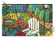 Garden With Lamp By Peggy Johnson Carry-all Pouch