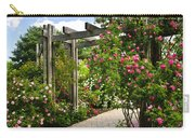 Garden With Roses Carry-all Pouch