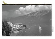 Gargnano On Lake Garda, Italy.    Black And White Carry-all Pouch
