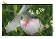 Garnished Showy Lady Slipper Carry-all Pouch