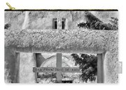 Gate To Ranchos Church Black And White Carry-all Pouch