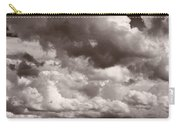 Gathering Clouds Over Lake Geneva Bw Carry-all Pouch