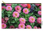Gathering Of Pink Zinnias Carry-all Pouch