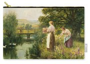 Gathering Spring Flowers Carry-all Pouch