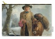 Gathering Winter Fuel  Carry-all Pouch by John Barker
