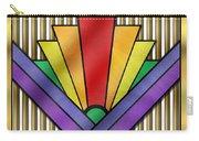 Rainbow Art Deco Carry-all Pouch
