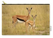 Gazelle Mother And Child Carry-all Pouch