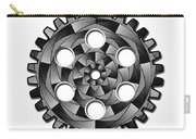 Gearwheel In Black And White Carry-all Pouch