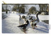 Geese At The Frozen Horninglow Basin Carry-all Pouch