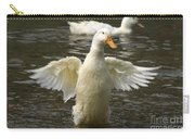 Geese In The Water Carry-all Pouch