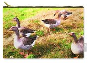 Geese In The Yard Carry-all Pouch