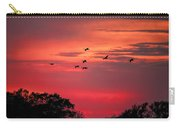 Geese On Their Sunset Arrival Carry-all Pouch