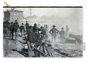Gen Shermans Troops Destroying Railroad Before The Evacuation Of Atlanta - C 1864 Carry-all Pouch