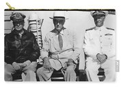 General Macarthur - President Roosevelt - Admiral Nimitz - 1944 Carry-all Pouch