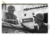 General Patton In Sicily Carry-all Pouch by War Is Hell Store
