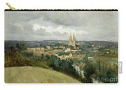 General View Of The Town Of Saint Lo Carry-all Pouch by Jean Corot