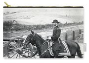 General William T Sherman On Horseback - C 1864 Carry-all Pouch