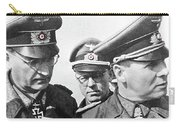 Generalfeldmarschall  Erwin Rommel And Staff Number 1 North Africa 1942 Color Added 2016 Carry-all Pouch