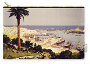 Genoa And The Italian Rivera Vintage Poster Restored Carry-all Pouch