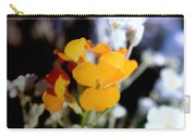 Gentle Yellow And White Carry-all Pouch