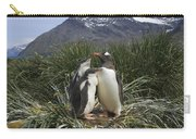 Gentoo Penguin And Young Chicks Carry-all Pouch by Suzi Eszterhas